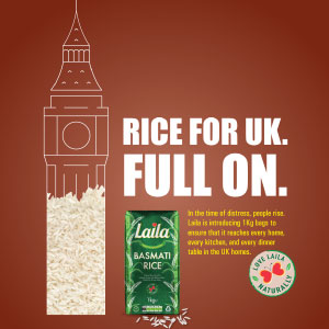 Laila 1kg Rice Poster
